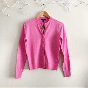 J. Crew Pink Jackie Cotton blend Cardigan NWT